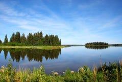 Île dans le lac Photographie stock