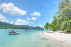 Île de Beras Basah, Langkawi, Malaisie Photographie stock