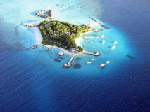 Île de Bolifushi d'hydravion images libres de droits