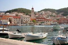 Île de Brac pendant l'été, Croatie images libres de droits