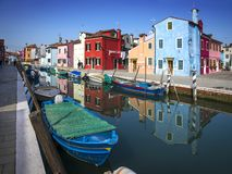 Île de Burano, à Venise, l'Italie photographie stock