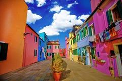 Île de Burano Image libre de droits