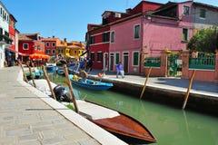 Île de Burano dans la lagune vénitienne Italie Photos stock