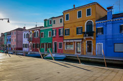 Île de Burano de Venise Photos stock