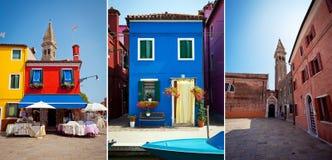 Île de Burano, Italie Photographie stock