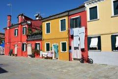 Île de Burano, Italie photos stock