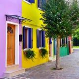 Île de Burano, Venise photo stock