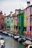 Île de Burano, Venise, Italie Image libre de droits