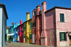 Île de Burano, Venise, Italie photos stock