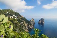 Île de Capri - île de l'amour Images libres de droits