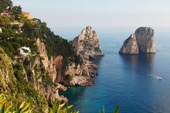 Île de Capri - île de l'amour Image stock
