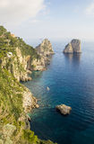 Île de Capri - île de l'amour Photos libres de droits