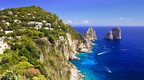 Île de Capri - Campanie, Italie Photo stock