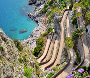 Île de Capri par l'intermédiaire de Krupp images libres de droits