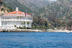 Île de Catalina de construction de casino Image stock