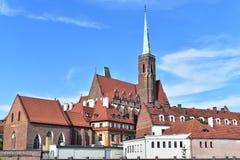 Île de cathédrale, Wroclaw photos stock