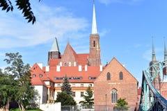 Île de cathédrale, Wroclaw photo stock