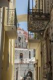 Île de Chios, Pyrgi Photo libre de droits