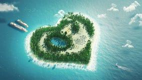 Île de coeur Images libres de droits