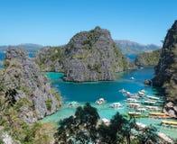 Île de Coron, Philippines Images libres de droits