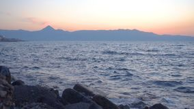 Île de Crète au crépuscule clips vidéos
