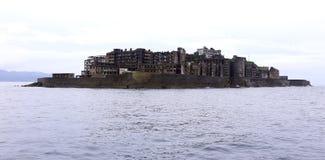 Île de cuirassé de Gunkanjima à Nagasaki Japon Photos libres de droits