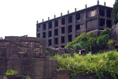 Île de cuirassé de Gunkanjima à Nagasaki Japon Photographie stock