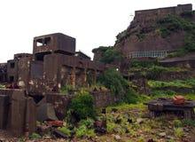 Île de cuirassé de Gunkanjima à Nagasaki Japon Photo stock
