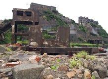 Île de cuirassé de Gunkanjima à Nagasaki Japon Photos stock