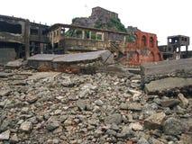 Île de cuirassé de Gunkanjima à Nagasaki Japon Images stock