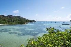 Île de Curieuse. Stationnements nationaux des Seychelles photos libres de droits
