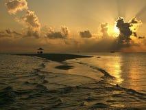 Île de désert - Maldives Photographie stock