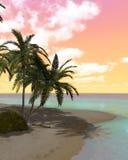 Île de désert rêveuse Image stock