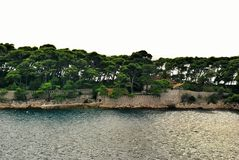 Île de Daksa, Croatie Photographie stock