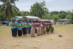 Île de Dravuni : Représentation de chant Images libres de droits