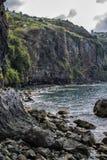 Île de falaise de paysage et de la Madère de roches portugal Photographie stock libre de droits