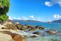 Île de Fitzroy, Queensland, Australie, grande région de barrière images libres de droits