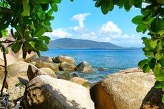 Île de Fitzroy, Queensland, Australie, région de la Grande barrière de corail image stock