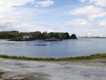 Île de Foynes sur la rivière Shannon Image libre de droits