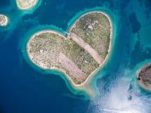 Île de Galesnjak sur la côte adriatique de la Croatie Images libres de droits
