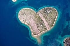 Île de Galesnjak sur la côte adriatique de la Croatie Photographie stock