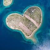 Île de Galesnjak sur la côte adriatique de la Croatie Images stock