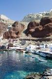 Île de Grec de santorini d'oia de compartiment d'Amoudi Photo libre de droits
