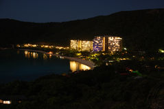 Île de Hamilton par nuit Photo stock