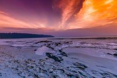 Île de Havelock avec le ciel coloré photographie stock libre de droits