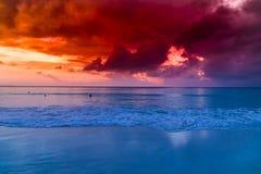 Île de Havelock avec le ciel rouge image libre de droits