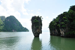 Île de James Bond, compartiment de Phang Nga, Phuket, Thaïlande Photographie stock