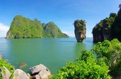 Île de James Bond en Thaïlande Photos libres de droits