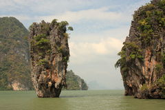 Île de James Bond. La Thaïlande. images libres de droits