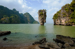 Île de James Bond, Phang Nga, Thaïlande Images libres de droits